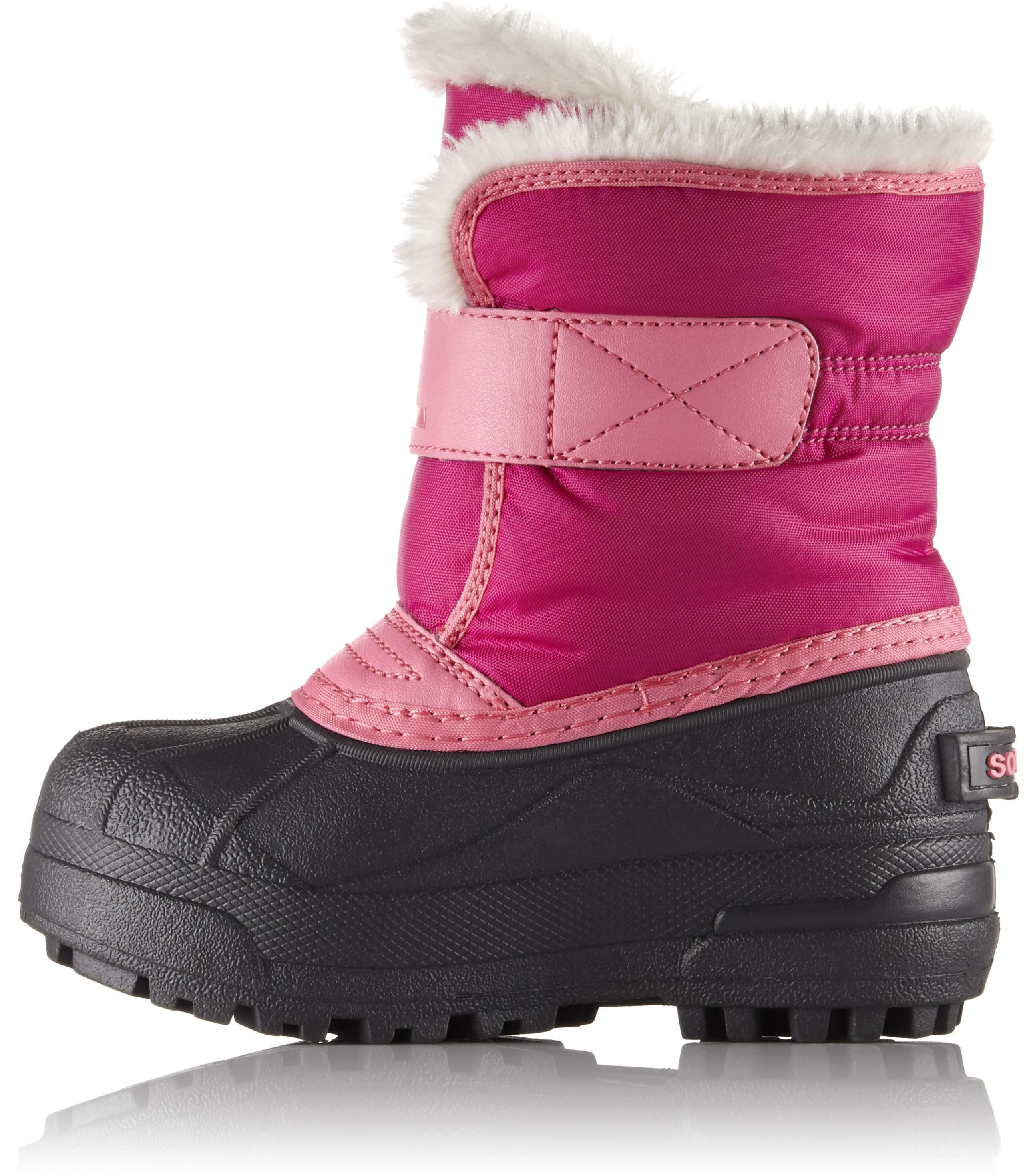 Sorel Snow Commander - Bottes Enfant - rose noir sur CAMPZ ! 74bd796d0b9e